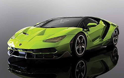 Scalextric C3957 Green Lamborghini Centanario - Ranura para Coche, Multicolor