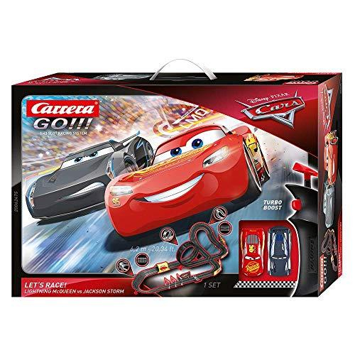 Carrera-GO Circuito de Coches Disney Pixar Cars-Let's Race de 6.2 m, Escala 1:43, Multicolor (20062475)