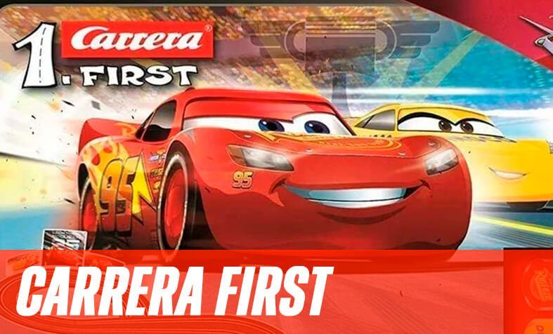 Carrera First slot and cars